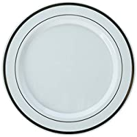 Rose Gold Trim Premium Plates, Package of 10 (Dinner)