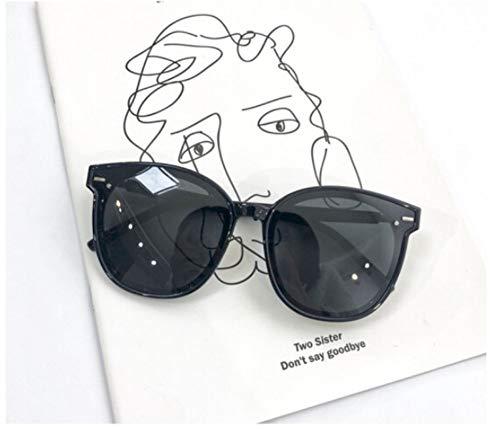 XIAOGUAI66 Street Shot Big Frame Sonnenbrille Männer quadratische Brille polarisierte Sonnenbrille schwarz polarisierte Sonnenbrille