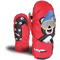 Level Animal - Guantes de esquí, tamaño II, 1 rojo