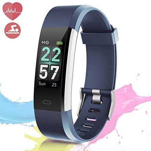 BANLVS Pulsera de Actividad Inteligente, Pulsera Actividad Pantalla Color Pulsera Inteligente Impermeable 68 con Monitor Rítmo Cardíaco Calorías GPS Pulsómetro Podómetro Cronómetro para Hombre Mujer
