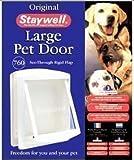 Staywell - 760 Weiße Haustier Große Hundetür - Mit klarer Hundeklappe