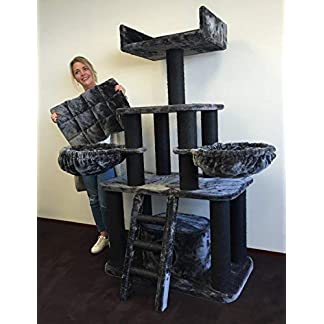 Cat tree for large cats Black Panther Dark Grey Sale XXL extra big breed trees scratch post and adult towers Furniture scratcher activity centre 11