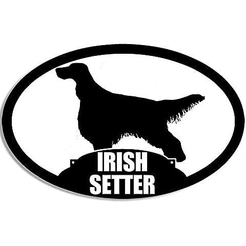 IRISH SETTER adesivo ovale, motivo: cane razza)