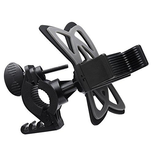 Fahrrad Handyhalterung, Spigen Spider [360° Sicherer Blick][Prämie Verstellbar] Stadt / Berg Drehbar Fahrrad Halterung Fahrrad Lenker Handyhalter Halter für Cradle Clamp, Handy Fahrrad Lenker & Motorrad Halter Cradle mit 360 drehen Motorrad Handyhalterung für iPhone 7/7 Plus / 6S / 6 / 5S / 5C / 5 / SE, Samsung Galaxy S8 /S8 Plus/ S7 / S7 Edge / Hinweis 5 / A / E Serie und andere Smartphones (LG V20/G6/G5,HTC,Huawei,Google Xiami,Nexus), GPS-Geräte, Fahrradhalter, Bike Mount, Schwarz - A250