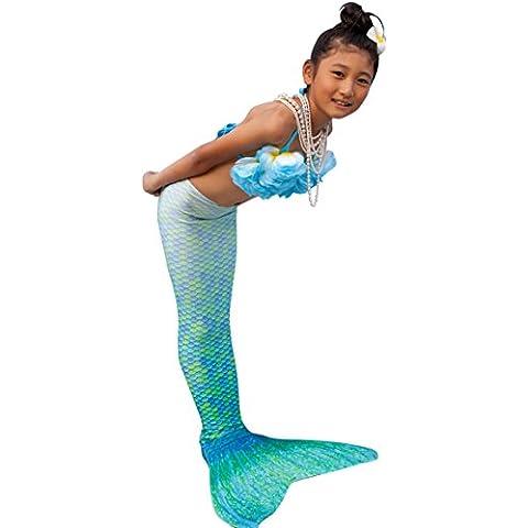 Abyss Mermaid® Colas De Sirena Para Nadar Para Niña (verde, 12)