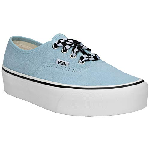 Vans Unisex Authentic Platform 2.0 Suede Cool Blue White Trainer 38 EU (Vans Suede Blue)