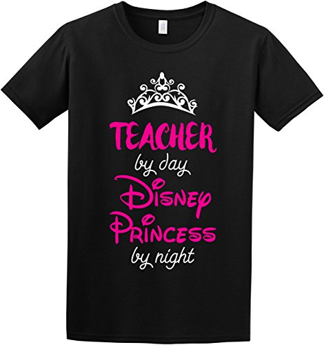 Teacher-By-Day-Disney-Princess-by-Night-Funny-Princess-Gift-Disney-Inspired-Slogan-T-Shirt