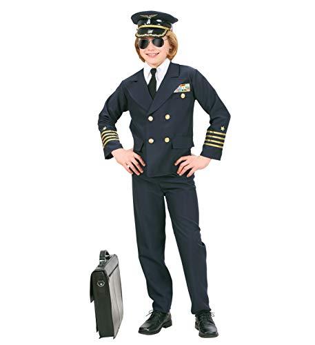 Kostüm Nerd Kind - Nerd Clear Piloten Kinder Kostüm | Karneval Motto-Party Kostüm | Jacke, Hot und Hose: Größe : 158