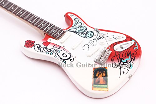 RGM97 Jimi Hendrix-Monterey Miniatur Gitarre Gitarre, Psychedelic Rock Rock Guitar Miniatures Are You Experienced Machine Gun Purple Haze