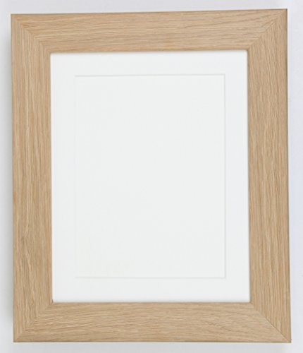 Tailored Frames Echt Eiche Natur massiv Holz Bilderrahmen und Poster Rahmen, (35,6x 30,5cm) für (25,4x 20,3cm) mit weißem Passepartout - Poster Trading Card