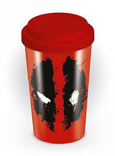 Deadpool To Go Kaffee Becher Travel Mug auslaufsicher spülmaschinengeeignet 14cm - Deadpool Machen