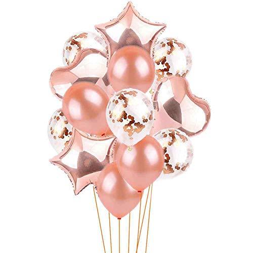 te zum Geburtstag Dekorationen Luftballons Einzigartig für die Hochzeit Geburtstagsfeier Dekoration Goldblau ()