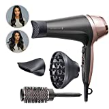 Remington Asciugacapelli Curl&Straight Confidence, 2200 Watt, Concentratore Ricurvo, 3 Temperature/...