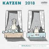 Katzen - Postkarten-Kalender 2018 - Lappan-Verlag - Wandkalender - Wochenkalender - 17,5 cm x 17,5 cm