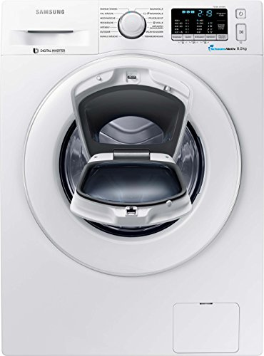 Samsung WW80K5400WW/EG Waschmaschine FL/A+++/116 kWh/Jahr/1400 UpM/8 kg/Weiß/Add Wash/Smart Check/Digital Inverter Motor