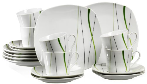 Ritzenhoff & Breker Kaffeeservice Grace, 18-teilig, Porzellangeschirr