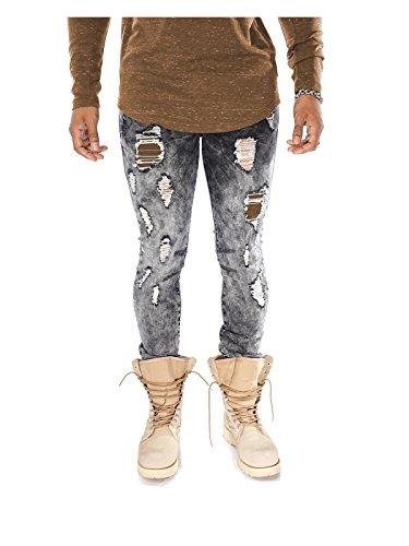 Project X Destroyed Acid Washed Jeans Jeans grau Grau