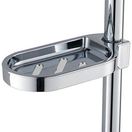 Soap Holder, Essort Soap Dish Bathroom Shower Accessory Soap Dish Holder Cup Tray, Clip-on Bathroom Soap Holder Fits for 25mm Tube, 3 Pack