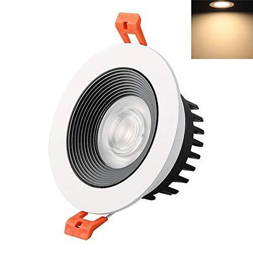 Verlight Runde weiße vertiefte LED-Scheinwerfer COB 3000K betteten Downlights-moderne Handelswohnzimmer-Gang-Eingangs-Speicher-dekorative Deckenverkleidungs-Lichter ein (Größe : 30w) -