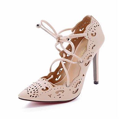 Moda Donna Sandali Sexy donna tacchi Primavera / Estate / Autunno Slingback PU Wedding / Esterni / Ufficio & Carriera / Party & sera abito / / Casual Stiletto Heel White