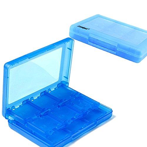 Luniquz 26-in-1 Spiel Kartenspeicher Aufbewahrungskoffer Organizer Halter für Nintendo 3DS, 3DS LL, DS, DSi XL, DS Lite, 2DS, NDS - Blau