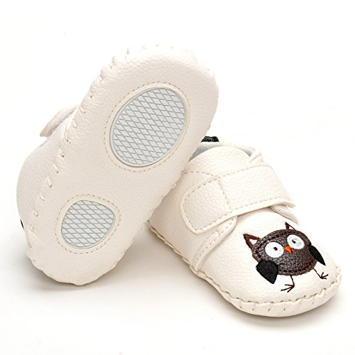 Infant Animal handgefertigt Crib Shoes, Rot - rot - Größe: 12-18 monate Weiß