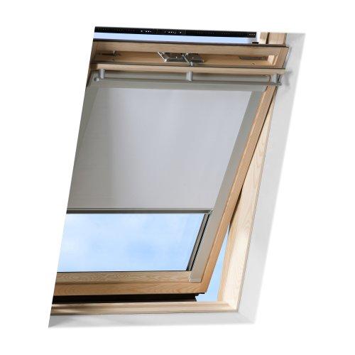 Victoria M. Dachfensterrollo passend für Velux Dachfenster/verdunkelndes Rollo/GGU S08, weiss