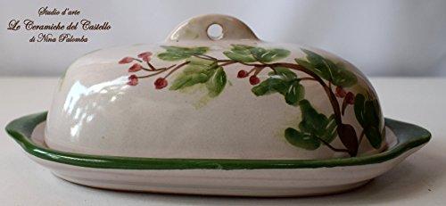 burrier-dish-kitchen-ivy-line-decorated-unique-manufact-handmade-le-ceramiche-del-castello-made-in-i