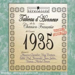 tableau d'honneur de la chanson française de l'année 1935