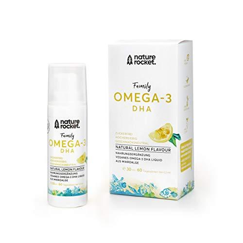 Veganes Omega-3 DHA + EPA lemon | reines Algenöl im Dosierspender | für Kinder, für Schwangerschaft & Stillzeit | Optimal dosiert 400mg/Tagesdosis nur 1ml | 1-2 Monate/Packung | Hergestellt in DE