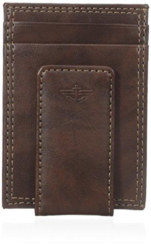dockers-mens-glazed-rustler-magnetic-money-clip-wallet-brown-one-size