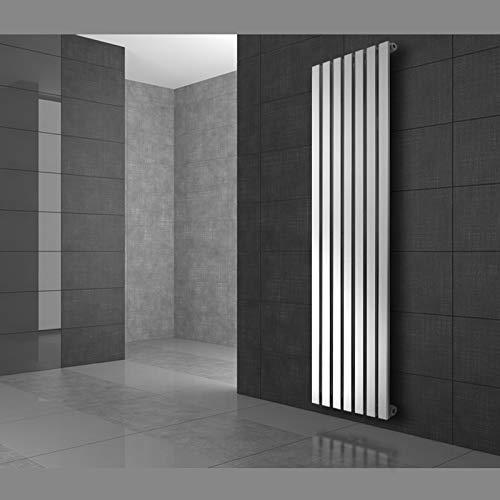 ECD Germany Stella Design Radiador de panel - 370 x 1800 mm - blanco - Radiador de Calefacción Toallero - Radiador Diseño Vertical Decorativo Moderno