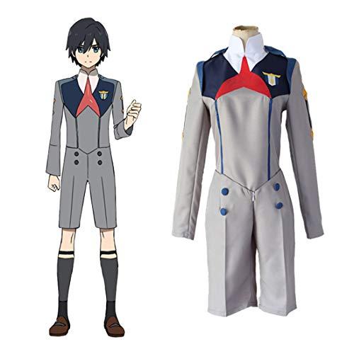 RL Cosplay Kostüme Japanischer Anime Darling in der FRANXX Kleidung Halloween Kostüme Spot Supply,Grey-XL
