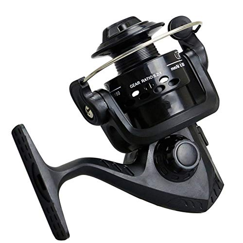 Reel Fishing, Metall Rotating Reel Fisch-Rad-Bait, Geeignet für Süß- und Meerwasser Angeln - mit Free Line,c