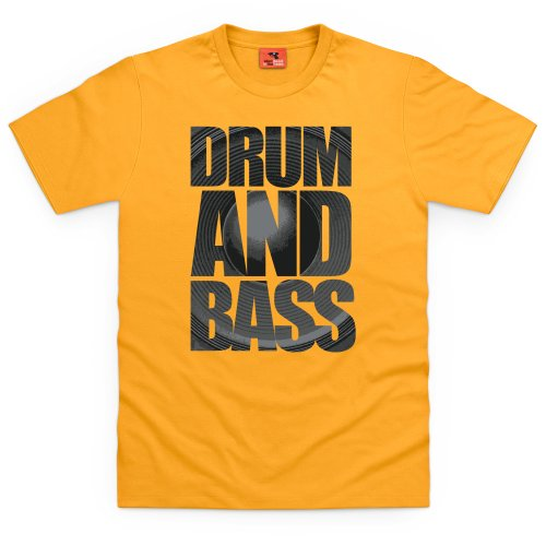 Drum & Bass 2 T-Shirt, Herren Gelb