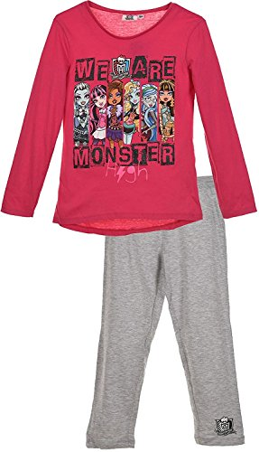 (Mädchen Monster High lange Pyjamas / PJs *** NEU *** DESIGN)