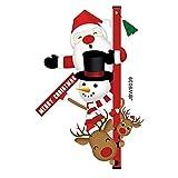 Qkurt Sticker Deco Fenetre Porte Noel, Père Noël Autocollants Nouveauté Drôle Décoration de Noël Décoration à la Maison pour le Festival de Noël