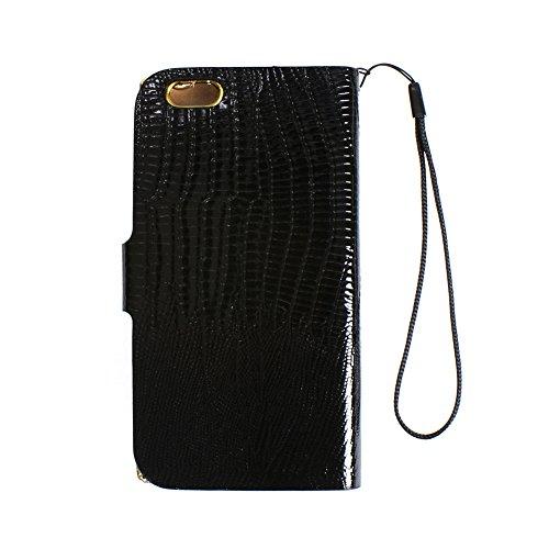 """D9Q Luxus Crystal Diamond PU Leder Flip Cover Wallet Case Hülle für das iPhone 6 Plus 5,5"""" !!Blau"""
