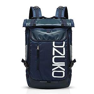 FANDARE Mochila de Viaje 15.6 Pulgada Ordenador Portátil Backpack Camping Mochila de Montañismo Hombre Mujer Impermeable Poliéster Azul