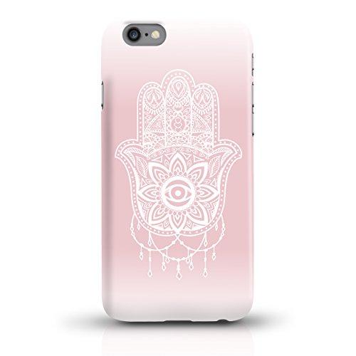 """JUNIWORDS Handyhüllen Slim Case für iPhone 6 / 6s - Motiv """"Hirsch mit Triangel-Muster"""" Schutzhülle für Ihr Smartphone Hand of Fatima rosa"""