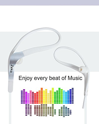 Neon Series Sports Earhook Headset with Mic Compatible For Micromax Joy F145 - Winter White  available at amazon for Rs.325
