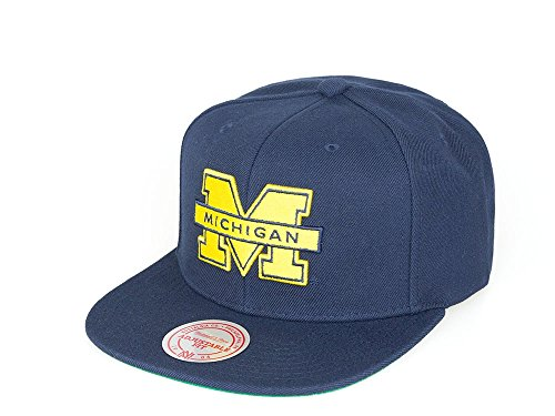 Michigan Wolverines - Mitchell & Ness - NCAA - Snapback Cap - College Football - Herren Kappe