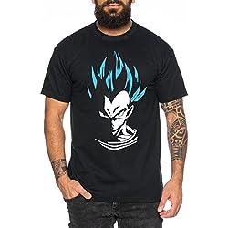 Super Son Goku Camiseta de hombre Goku Dragon Master Son Ball Vegeta Turtle Roshi Db, Farbe2:Schwarz;Größe2:S