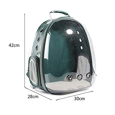 TOOGOO Portable Pet/Cat/Dog/Puppy Backpack Carrier Bubble, New Space Capsule Design 360 degree Sightseeing Rabbit Rucksack Handbag Transparent Travel Bag, Safe & Breathable(Blue) from TOOGOO