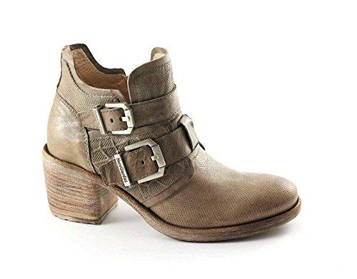 BLACK GARDENS 17151 beige Schuhe Frau Knöchel Stiefel Reißverschluss Schnallen Beige
