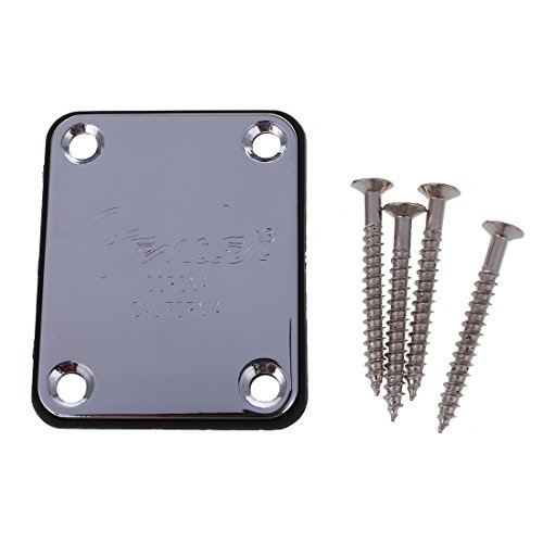Price comparison product image SODIAL(R) Electric Guitar Neck Plate Neck Plate Fix Tele Telecaster Guitar Neck Joint Board - Including Screws