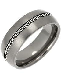 Theia Ring und Silber Inlay Kette Court Titan