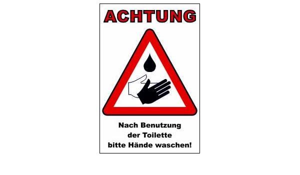 Wc Toiletten Schild 112t Hände Waschen 295cm 20cm 2mm Mit