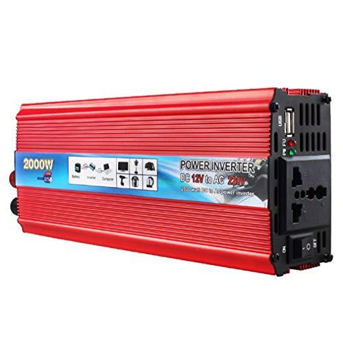 ATOMICO 2000W modifizierter Sinus-Wechselrichter, 12V Wechselstrom 110V, elektronischer Ladegerät-Konverter mit Wechselstromanschluss,Red - Zu Spannungswandler 240v 110v