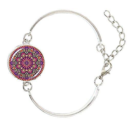 Mandala pulsera Chakra Mandala espiritual de cúpula de cristal brazalete pulsera